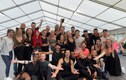 Strictly Come Dancing stars unite for the first big rehearsals of the year