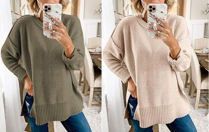 This Is the Ideal Oversized Sweater to Pair With Your Favorite Leggings