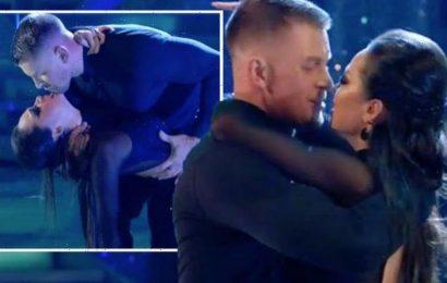 Adam Peaty and Katya Jones spark uproar as fans convinced pair 'tried to kiss': 'Intense!