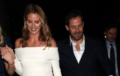 Jamie Redknapp and Frida joined by family as they head to glam wedding reception