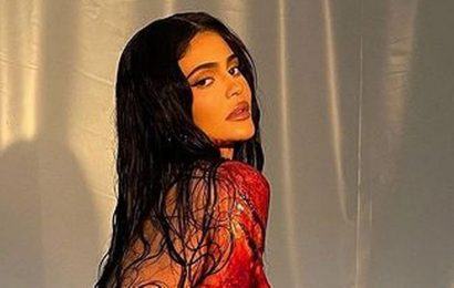 Kylie Jenner fans horrified as she strips and covers herself in blood for shoot