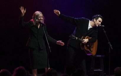 Phoebe Bridgers and Matty Healy Team Up for First Live Duet of the 1975s Jesus Christ 2005 God Bless America (Watch)